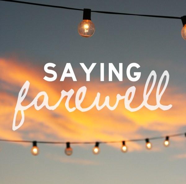 saying farewell